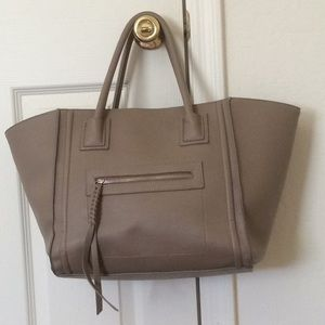 Forever 21 Taupe Gray Tote Bag Handbag